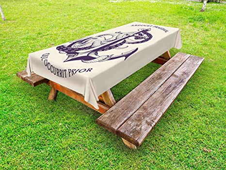 Amazon lunarable anchor outdoor tablecloth anchor octopus lunarable anchor outdoor tablecloth anchor octopus antique sailing historical transportation equipment wildlife decorative washable watchthetrailerfo