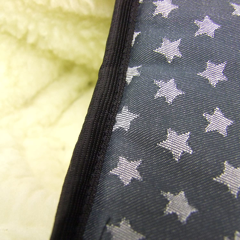 Bambini Mundo Saco de invierno para portabeb/és maxi-cosi Cabrio Fix con lana estrellas beige STERNE beige WOLLE