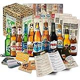 """""""BIERE DER WELT"""" 12 Flaschen ++ Geschenkkarton ++ Bierinformationen ++ Bierdeckel. Biergeschenk für Männer / Geburtstag / Weihnachten etc. Die perfekte Geschenkidee für Männer"""
