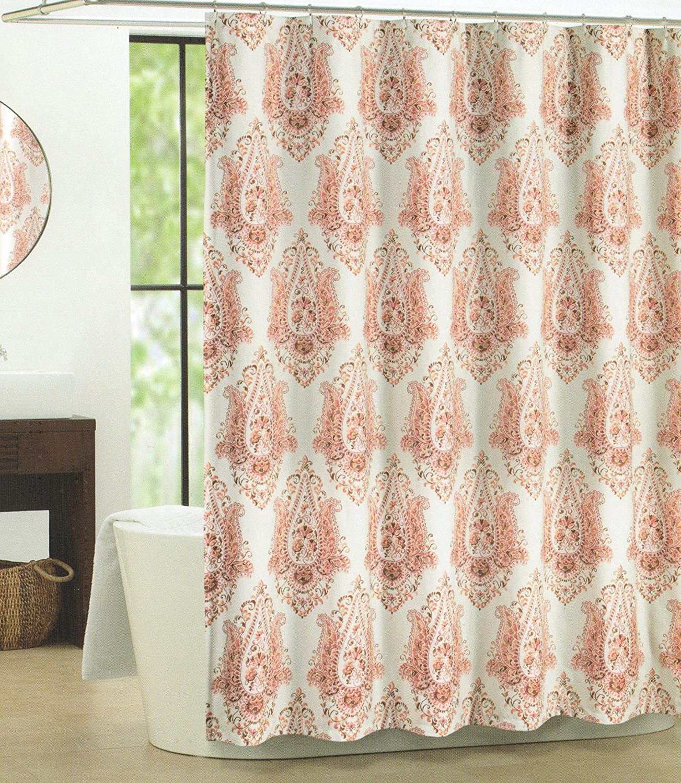Tahari shower curtains - Amazon Com Tahari Home Vendome Medallion Fabric Shower Curtain Home Kitchen