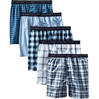 Hanes Men's Tagless Tartan Boxers with Exposed Waistband Multipack