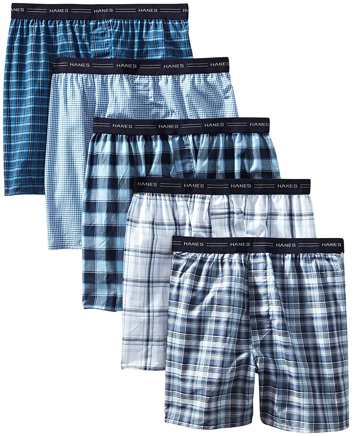 Hanes Mens Red Label Comfort Flex Yarn Dyed Boxers (841BX5B) Assorted XX-Large shoes home decor