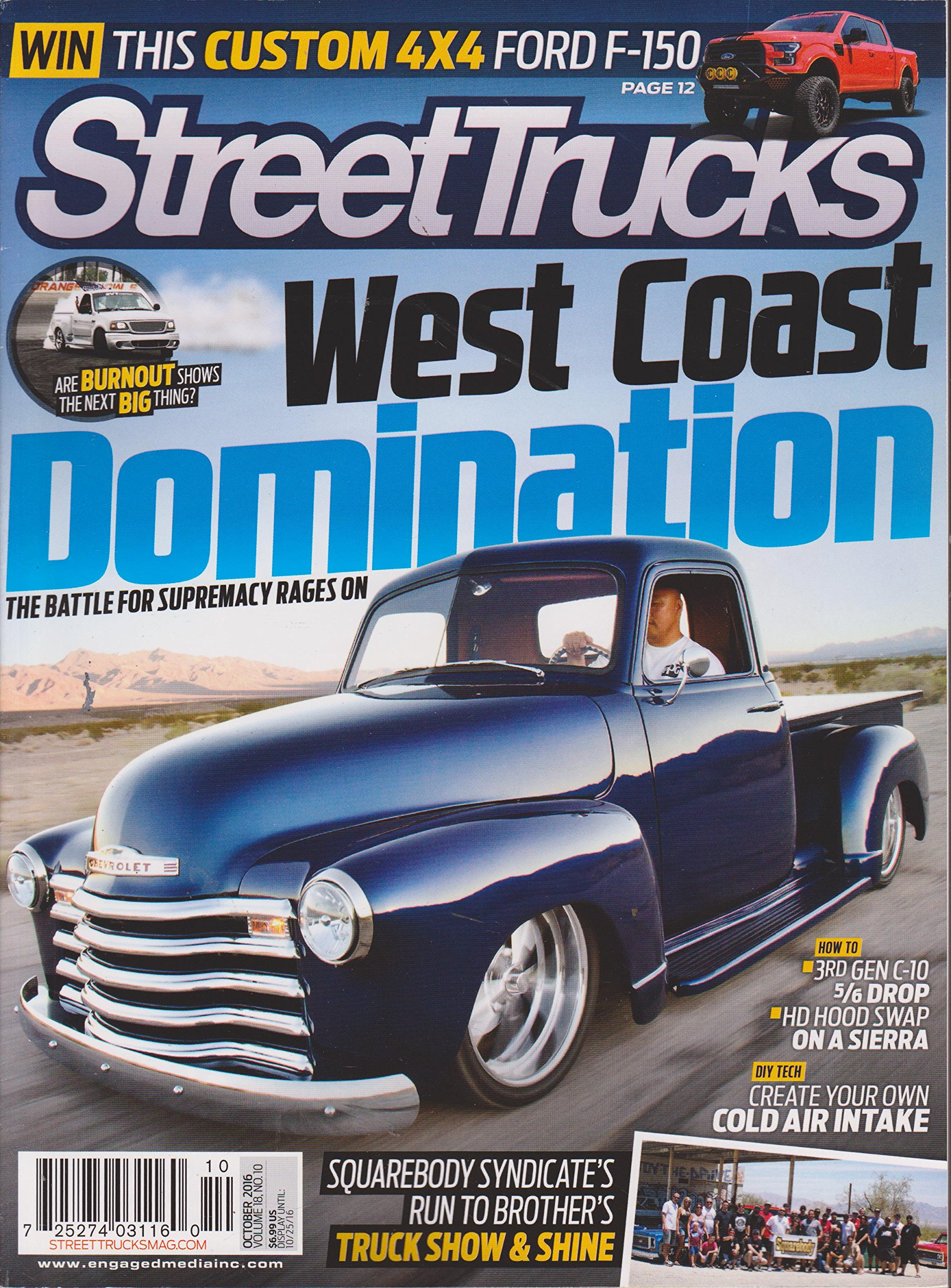 Street Trucks Magazine October Wall Periodicals Online Amazon - Diy car show display