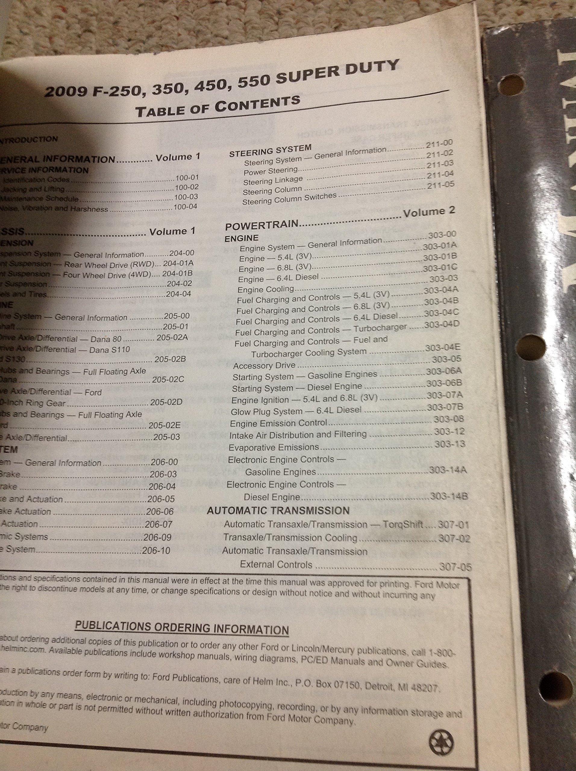 2009 Ford Truck Diesel F 250 350 F450 550 Service Shop Repair Super Duty Steering Column Wiring Diagram Manual Set Oem Books