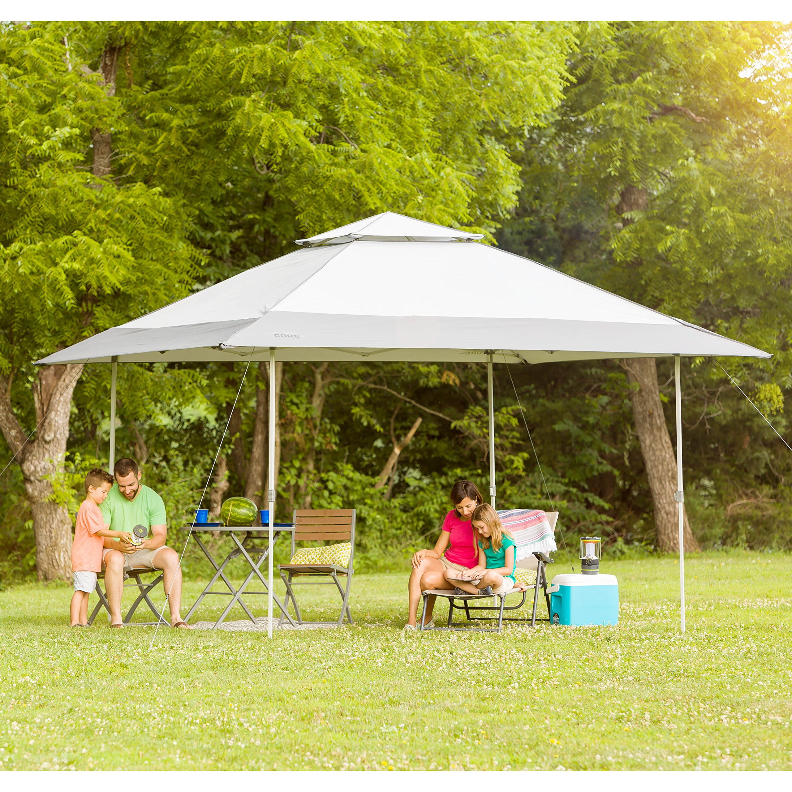 CORE 13' x 13' Instant Shelter Pop Up Canopy Gazebo Tent for Shade in Backyard, Party, Event with Wheeled Carry Bag, Gray by CORE (Image #2)