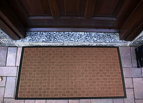 Ultralux Premium Indoor Outdoor Entrance Mat 35 x 59 Absorbent, Strong, Anti-Slip Entry Rug Heavy Duty Doormat Brown Home or Office Use Multiple Sizes