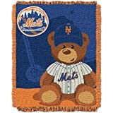 MLB New York Mets Field Woven Jacquard Baby Throw Blanket, 36x46-Inch
