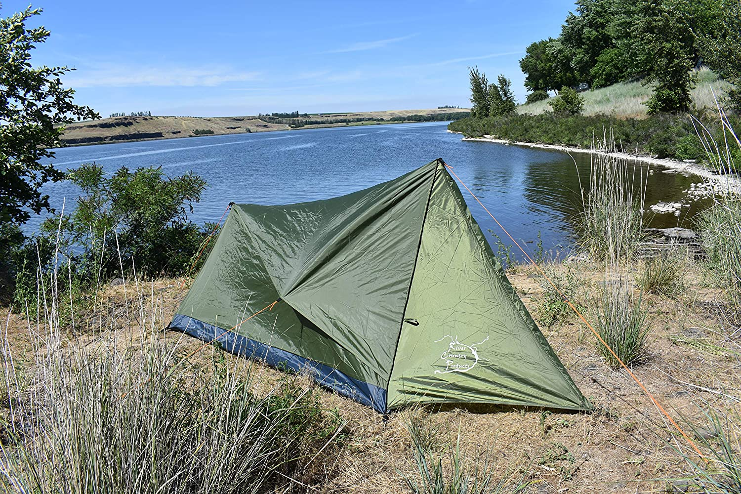 River Country Products Trekker Tent 1V, Lightweight One Person Backpacking Tent with Vestibule