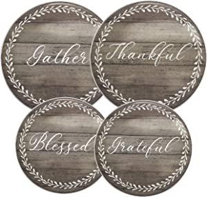 Daily Gratitudes Round Electric Stove/Range Burner Kover - Set of 4