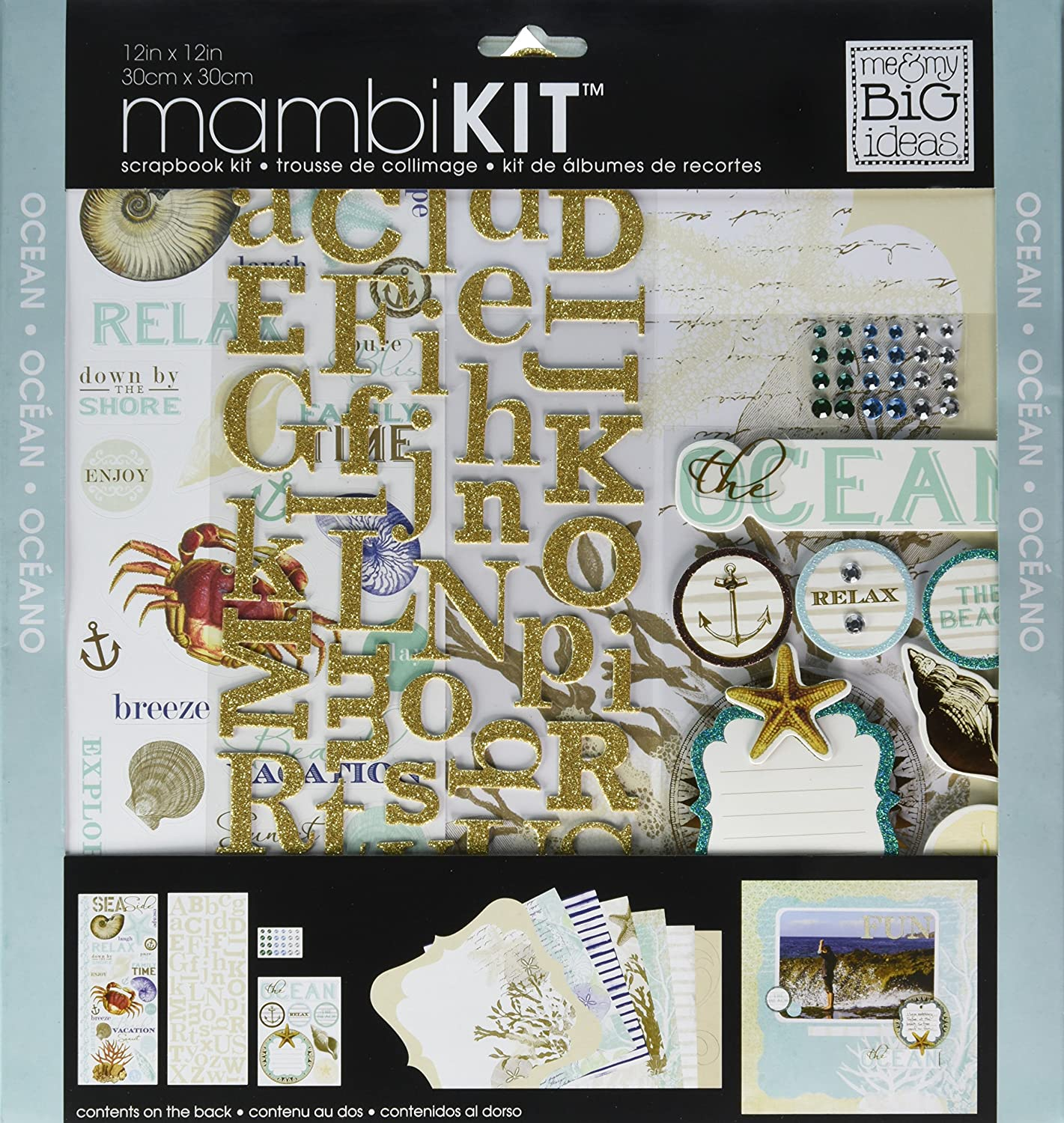 me /& My Big Ideas mambiKIT 12-Inch x 12-Inch Scrapbook Page Kit Ocean