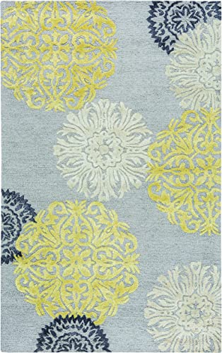 Rizzy Home Eden Harbor Collection Wool/Viscose Area Rug