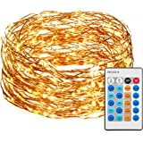 Led String Lights with Copper Wire (50ft. with Remote) Dimmable Twinkle Fairy Star lights Wire Lights for Indoor Outdoor Christmas Decorative Lights for Seasonal Holiday or crafting (Warm White)