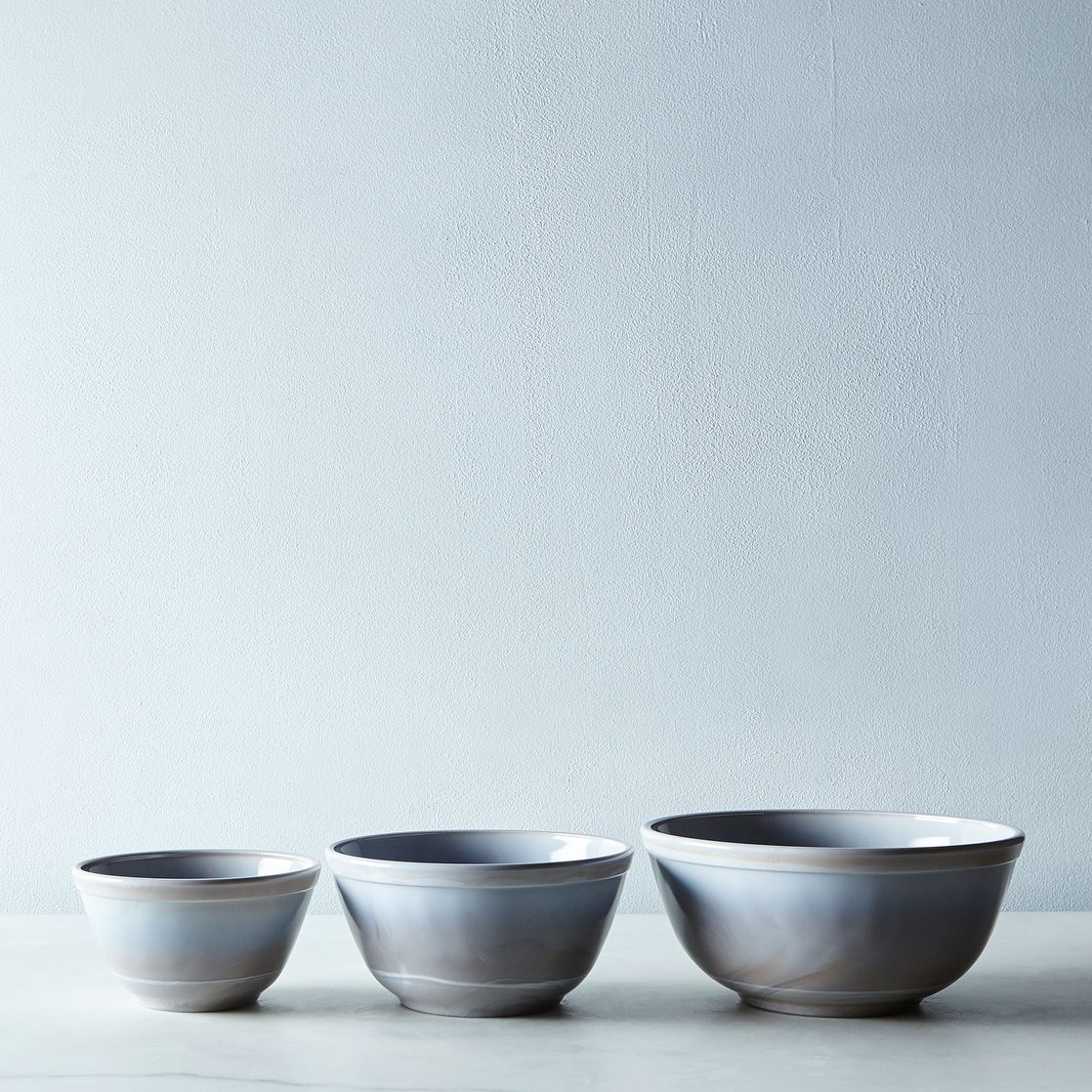 Grey Swirl Glass 3-Piece Mixing Bowl Set on Food52