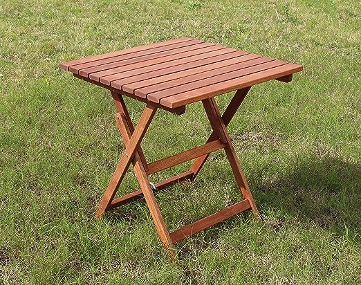 Mesa Mesa De Madera Nogal Plegable Plegable Muebles jardín ...