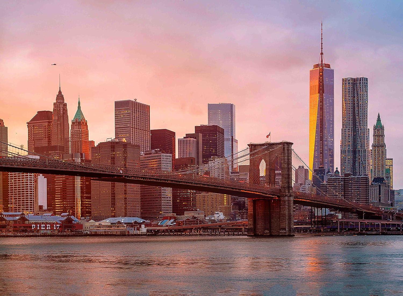 Amazon.com: Adult Jigsaw Puzzle Brooklyn Bridge Skyline New York ...