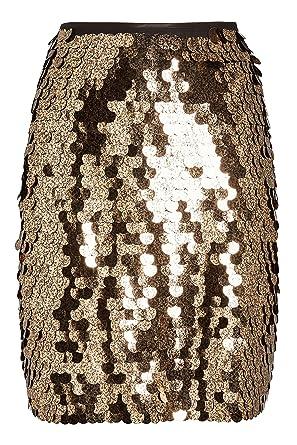e902bfd606 next Mujer Falda con Lentejuelas Gold EU 50 (UK 22)  Amazon.es  Ropa ...
