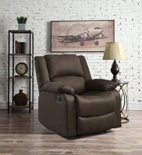 Warren Reclining Chair Chocolate & Amazon.com: Relax A Lounger RR-ADRL35255 Anderson Recliner ... islam-shia.org
