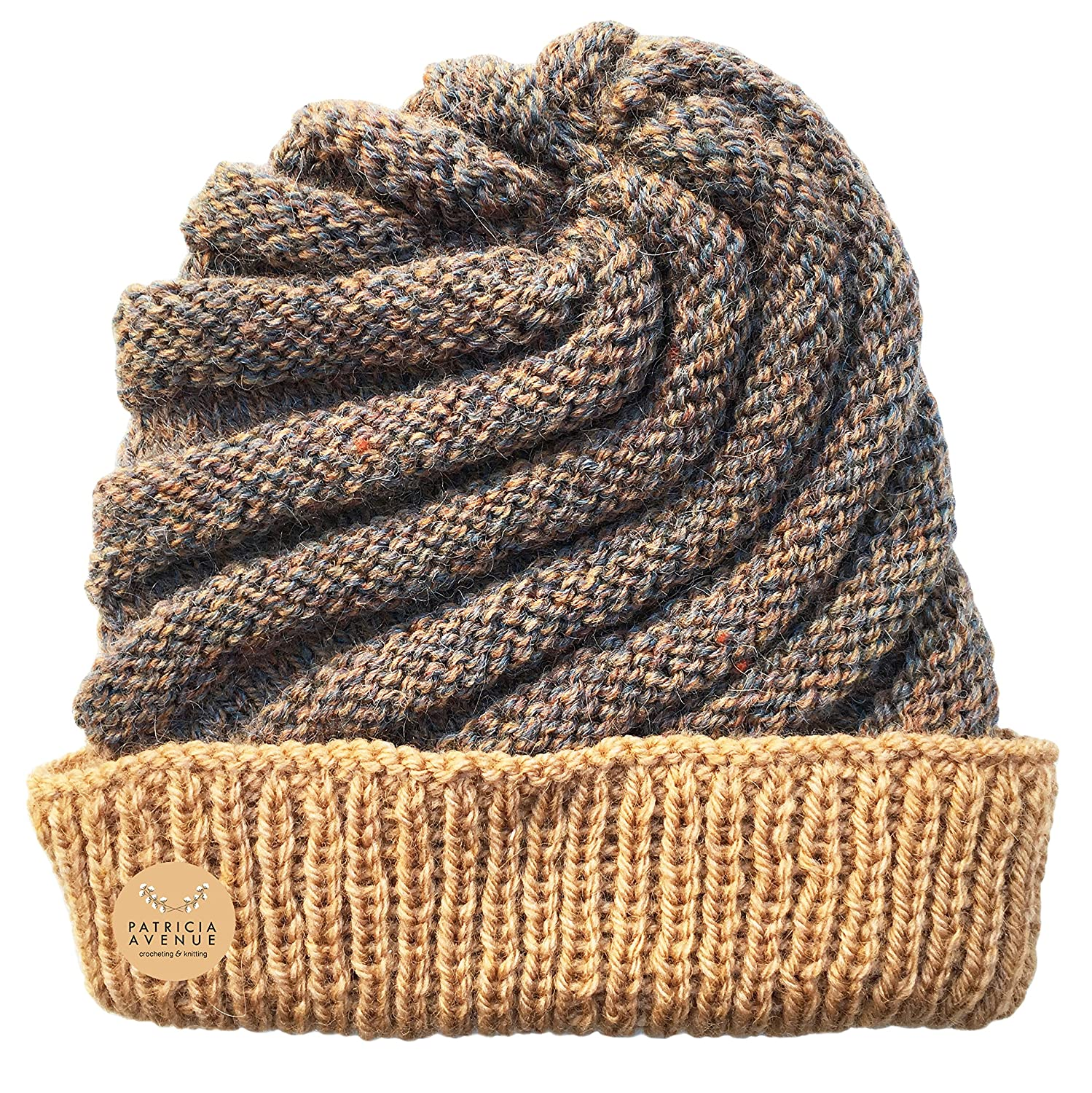 Amazon.com: Custom Made - Knitted by Hand Icecream Hat in Dulce de Leche (Acrylic & Wool): Clothing