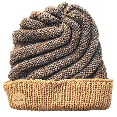 Patricia Avenue Ready to Ship - Knitted by Hand Icecream Hat in Dulce de Leche (