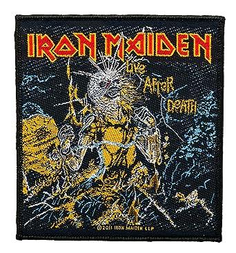 Parche de Iron Maiden, Live After Death, tejido y con licencia oficial: Amazon.es: Ropa y accesorios