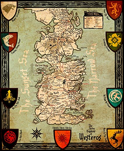 Art From Game of Thrones - Seven Kingdoms Of Westeros Map - Game Of Best Game Of Thrones Map on world map, guild wars 2 map, best map of essos, best united states map, best vegas map, clash of kings map, best westeros map, best gorge map,