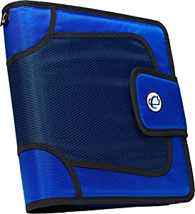 Case-it Open Tab Closure 2-Inch Binder with Tab File, Blue, S-816-BLU
