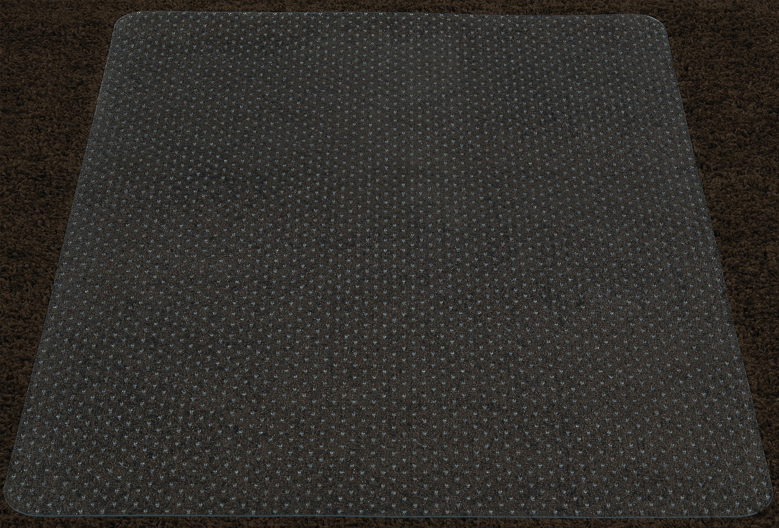 Ottomanson Carpet Chair 36''X48'' Plastic Mat Protector, 36'' x 48'', Clear