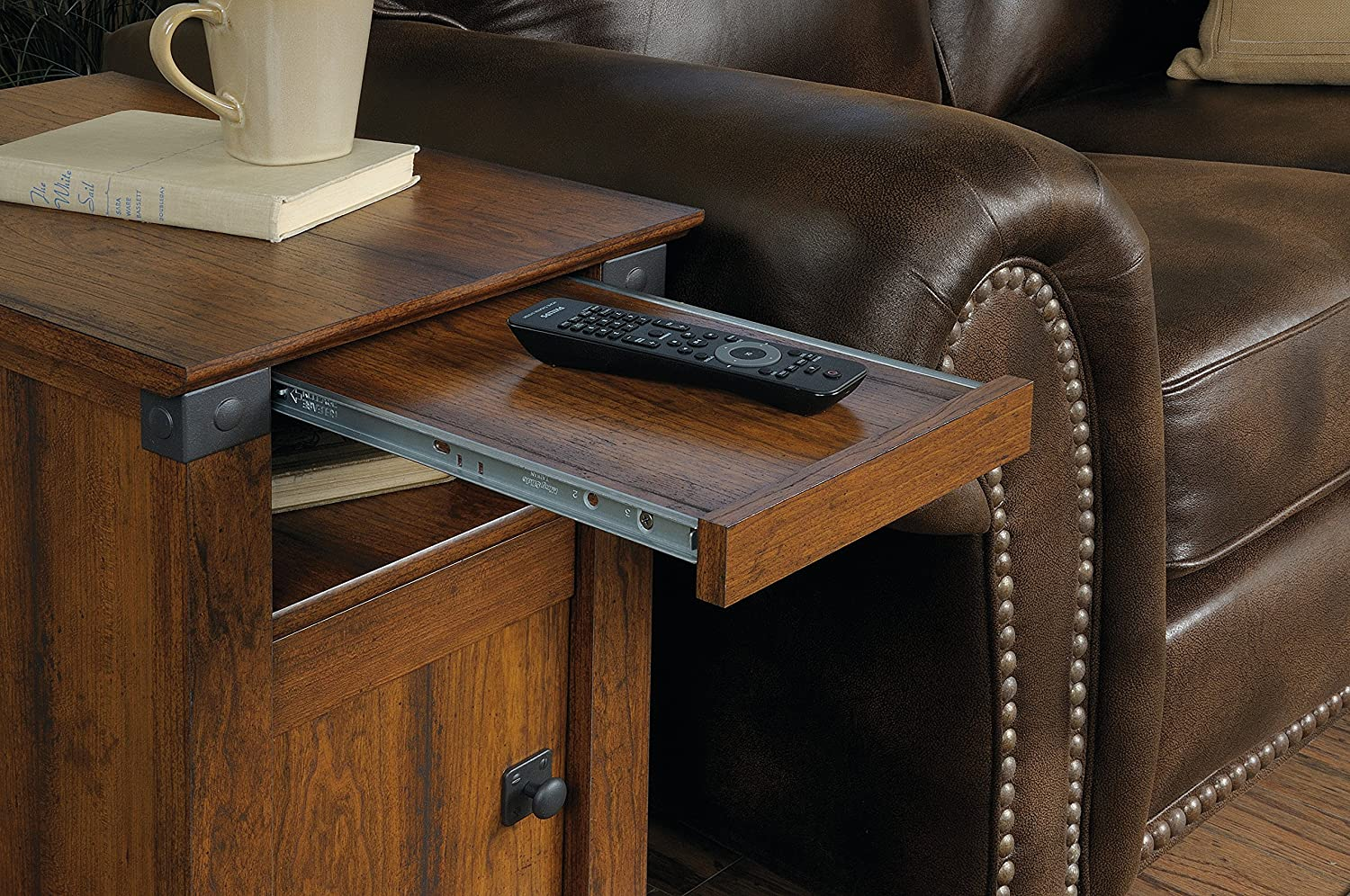 Amazon sauder carson forge side table washington cherry amazon sauder carson forge side table washington cherry finish kitchen dining geotapseo Gallery