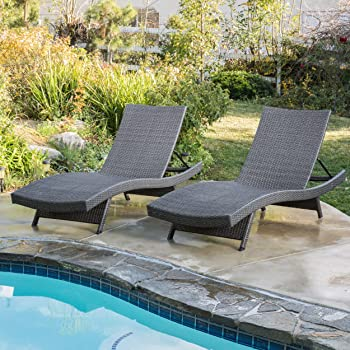 Salem Outdoor Wicker Chaise Pool Lounge Chairs