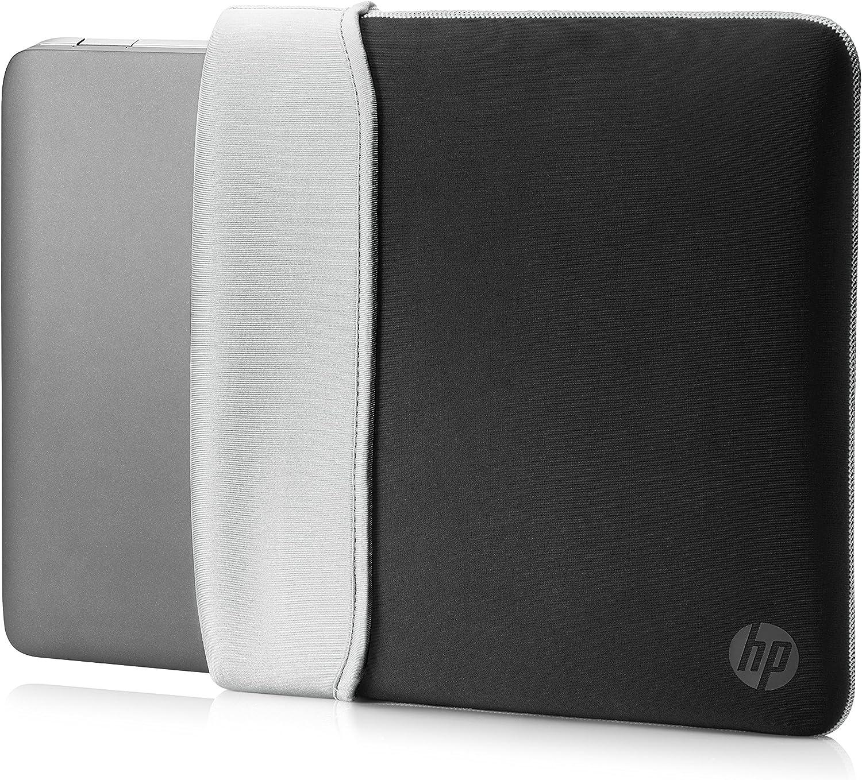 HP 15.6 Inch (39.6 cm) Black & Silver Reversible Neoprene Sleeve for Laptop/Chromebook/Mac
