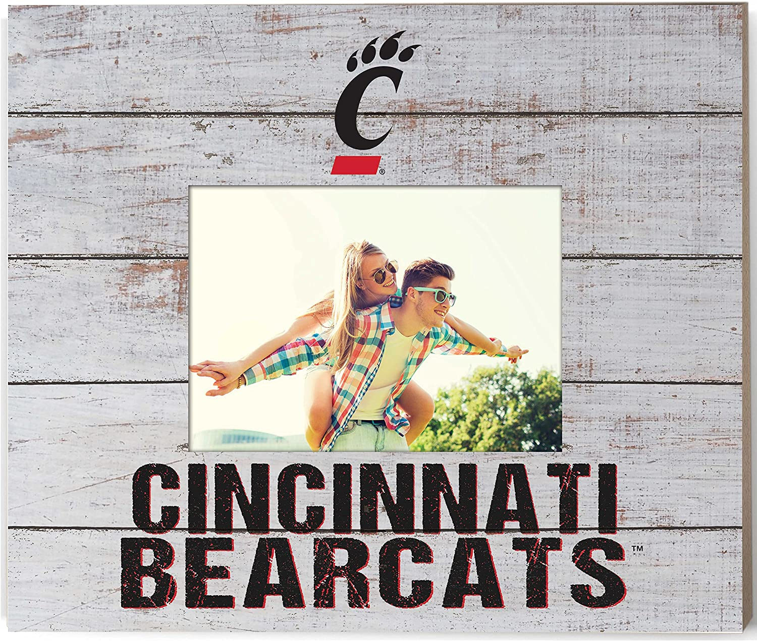 "KH Sports Fan 13.63""x11.63"" Cincinnati Bearcats Team Spirit Slat Frame with Logo, Multi"