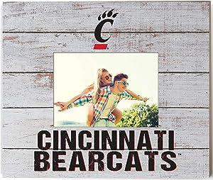 "KH Sports Fan 13.63""x11.63"" Cincinnati Bearcats Team Spirit Slat Frame with Logo, Multi"