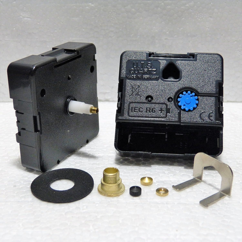 24hr Euroshaft europeo orologio quarzo movimento meccanismo motore Minute Hand Fixing Nut Black Closed UTS