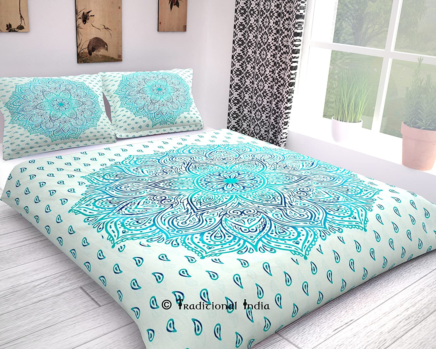 blue save bedding seventeen ombre ikat king home with cover linen flower or white sets comforter decoration chic duvet cookie one closeout mandala xl set twin anything a melange pillow case else