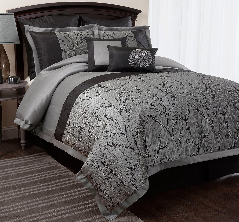 comforter silver set madison piece king cal aqua
