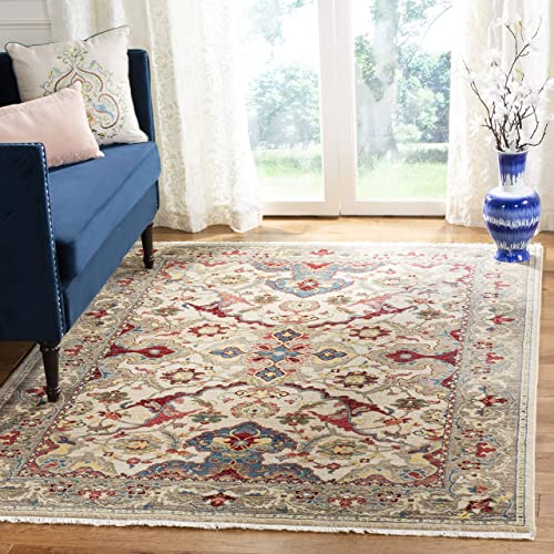 Safavieh Kashan Collection Traditional Oriental Fringe Area Rug, 9 x 12 , Ivory Taupe