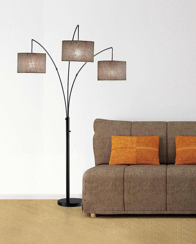 Amazon lamp shades tools home improvement - Amazon Com Adesso 4238 26 Trinity 82 Arc 3 Light Floor Lamp Smart Switch Compatible Lighting Fixture Antique Bronze Lamp Home Improvement Essentials