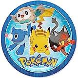 American Greetings Pokémon 8 甜点圆形盘子,小号,8 只装,甜点盘子 1 months to 180 months 餐盘 8-Count 午餐盘