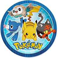 Amscan Pokemon Core Paper Plates