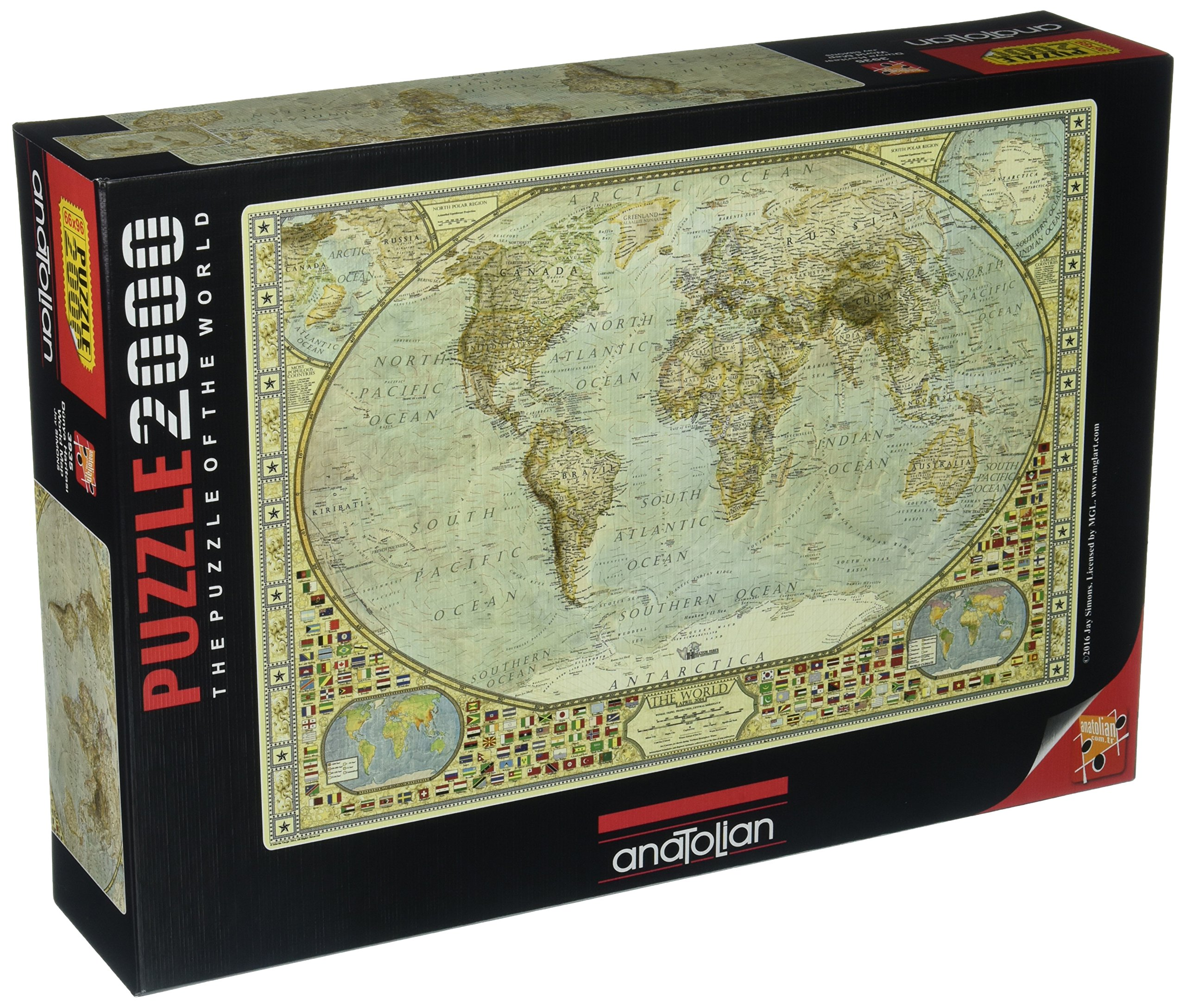 Anatolian world map jigsaw puzzle 2000 piece premium quality free anatolian world map jigsaw puzzle 2000 piece premium quality free shipping new gumiabroncs Image collections