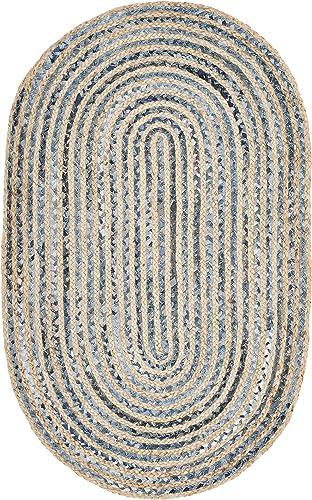 Safavieh Cape Cod Collection CAP250A Handmade Woven Jute Area Rug