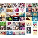 20 liebes postkarten im set 10 motive mit jeweils 2 postkarten love cards liebe herzen. Black Bedroom Furniture Sets. Home Design Ideas