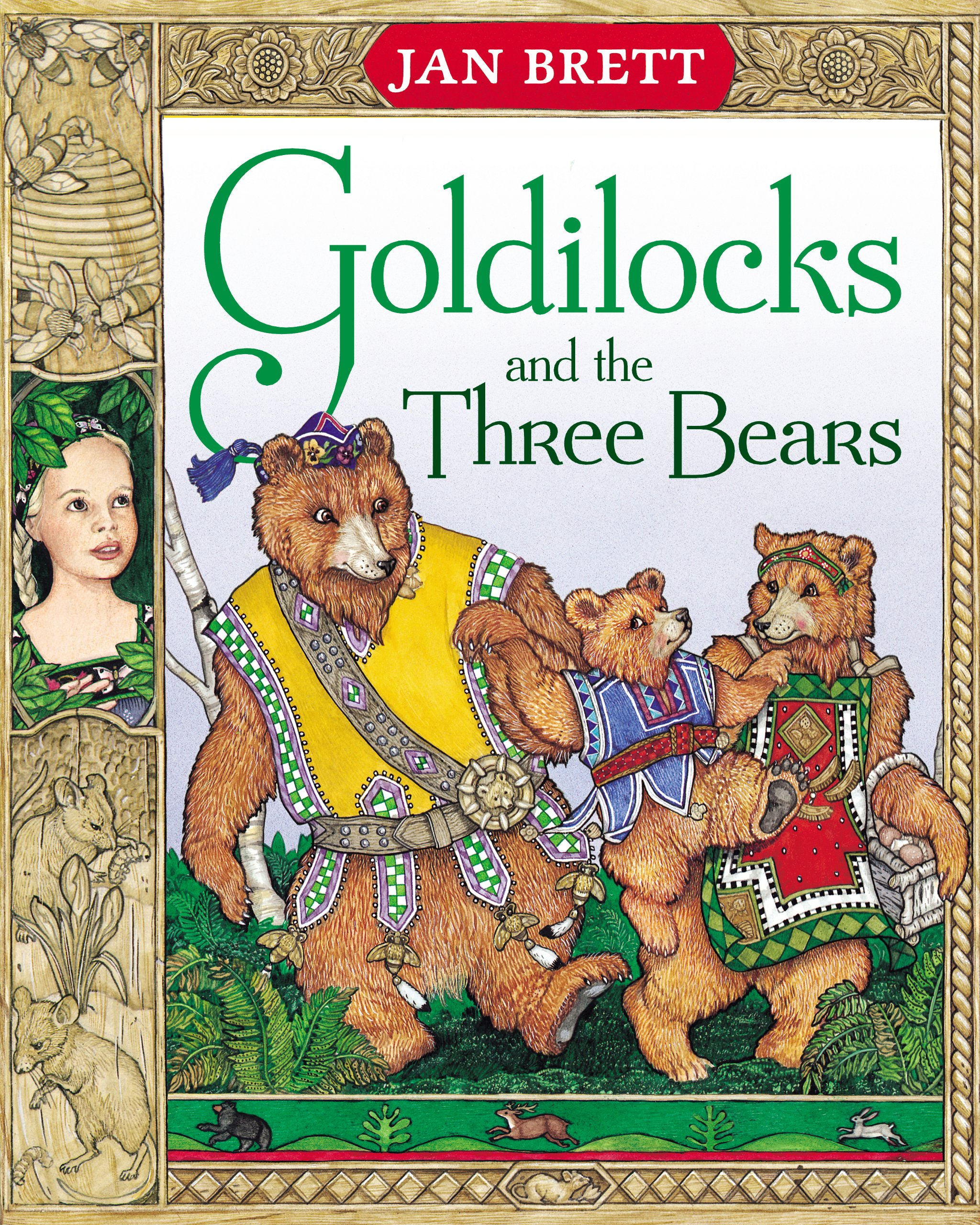 goldilocks and the three bears jan brett 9780399220333 amazon
