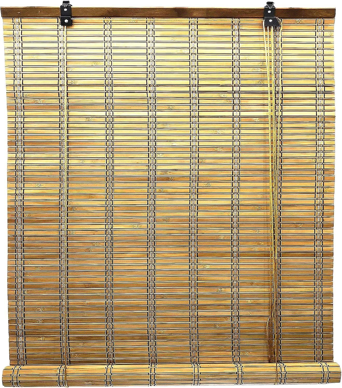 Solagua 6 Modelos 14 Medidas de estores de bambú Cortina de Madera persiana Enrollable (90 x 175 cm, Marrón): Amazon.es: Hogar
