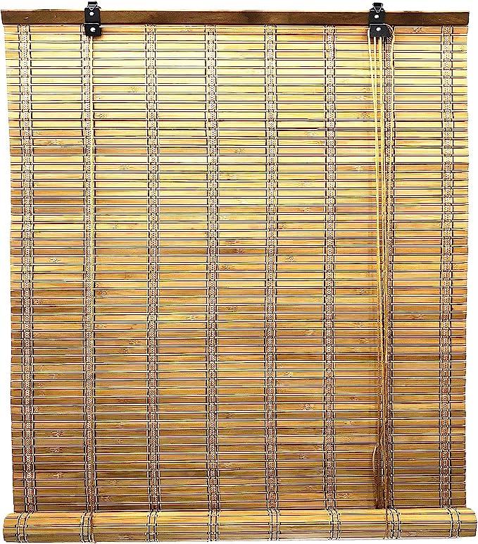 Solagua 6 Modelos 14 Medidas de estores de bambú Cortina de Madera persiana Enrollable (60 x 135 cm, Marrón): Amazon.es: Hogar