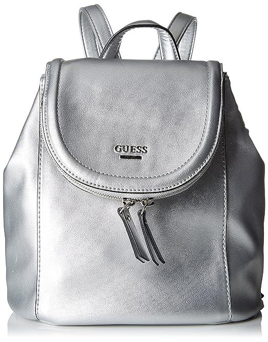 Mochila Guess Hobo Bolsos Mujer Bags Plateado 12x25x25 silver wqBqCa