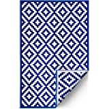 FH Home Outdoor Rug - Reversible - Indoor Use, Kids Room, Mudroom - Stain Resistant, Easy to Clean Weather Resistant Floor Ma