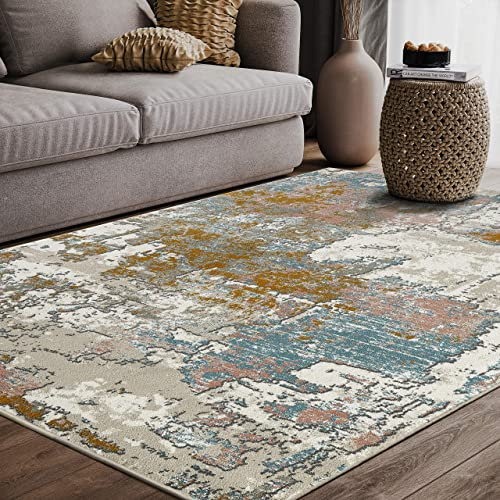Porto Collection 7'9″ x 10'2″ Contemporary Area Rug