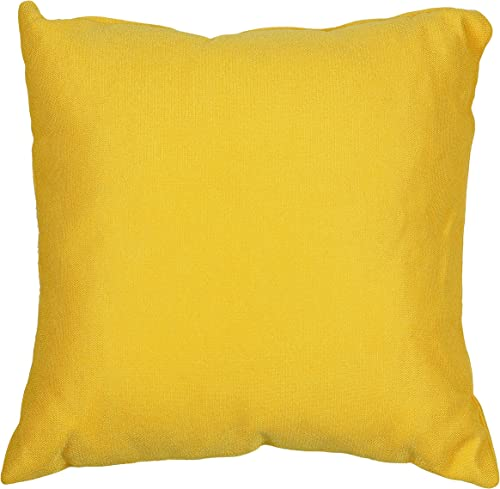 Cortesi Home Aimee Decorative Soft Velvet Square Accent Throw Pillow with Insert, 16 x 16 , Yellow