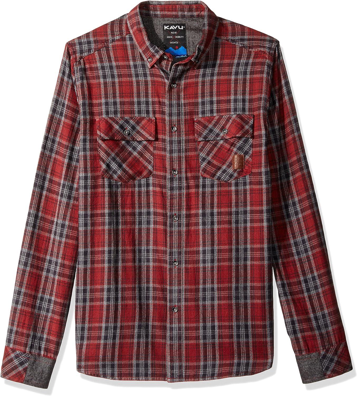 KAVU Mens Buffaroni Button Down Shirt